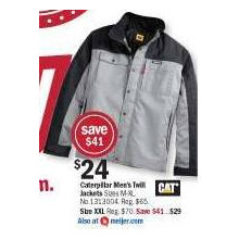 Caterpillar Men's Twill Jackets (XXL)