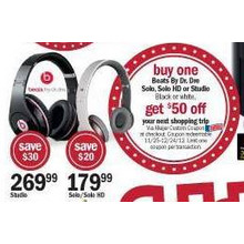 Beats by Dre Studio Headphones w/ 50 Coupon