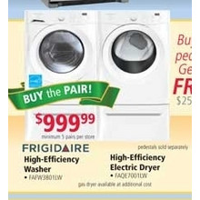 Frigidaire High-Efficiency Washer & Electric Dryer (earlybird)