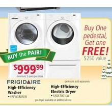 Buy 1 Get 1 Free Frigidaire Pedestal for Washer and Dryer (earlybird)
