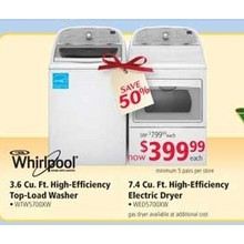 Whirlpool 7.4 cu. ft. High-Efficiency Electric Dryer (earlybird)
