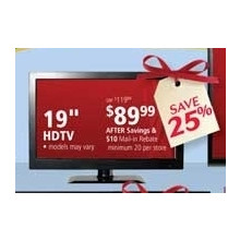 "No-Name 19"" HDTV (earlybird) (rebate)"