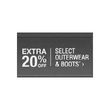 Outerwear & Boots (Select Items) - Extra 20% Off