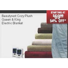 Beautyrest Cozy Plus Queen & King Electric Blanket