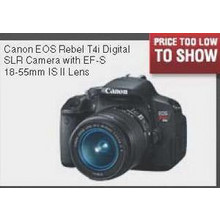 Canon EOS Rebel T4i Digital SLR Camera with EF-S 18-55mm IS II Lens