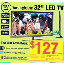 "Westinghouse 32"" LED TV 720p"