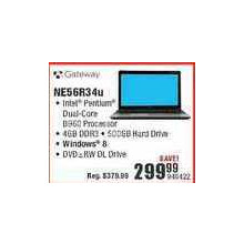Gateway NE56R34U (Intel Dual-Core, 4GB DDR3, 500GB HD)