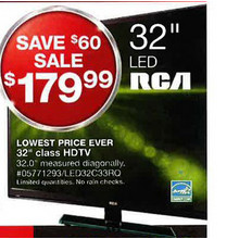 "RCA 32"" HDTV (LED32C33RQ)"