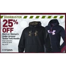 25 % Off Under Armour Mens Tackle Twill Hoodie