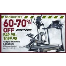 60-70% Off Epic Treadmills