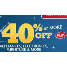 Appliances Up to 40% Off