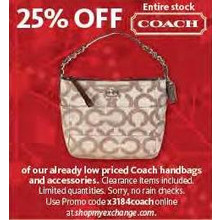 Coach Merchandise - 25% OFF