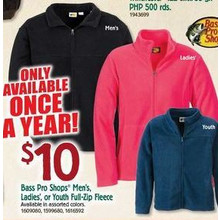 Bass Pro Shops Youth Full-Zip Fleece
