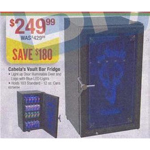 Cabela's Vault Bar Fridge