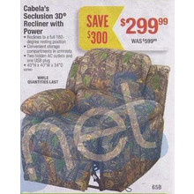 Cabela's Seculsion 3D Recliner w/ Power
