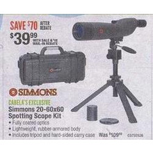 Simmons 20-60x60 Spotting Scope Kit