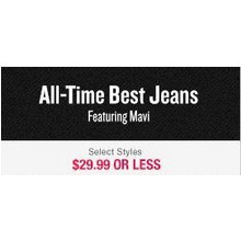 All-Time Best Jeans - $29.99 or Less