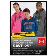 Under Armour Kids Fleece (Select Styles) 25% OFF