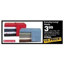Everyday Living Flat Sheets (Twin) (Assorted Colors)