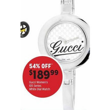 Gucci Womens 105 Series White Dial Watch