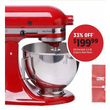 KitchenAid 4.5-qt. Mixer (Empire Red)