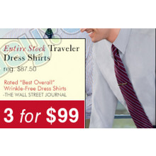 3 Traveler Dress Shirts