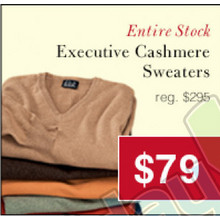 Executive Cashmere Sweaters