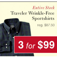 Traveler Wrinkle Free Sportshirts Set of 3