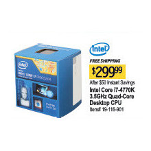 Intel Core i7-4770K  3.5GHz Quad-Core Desktop Processor