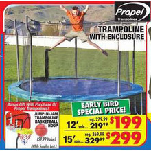 12' Propel Trampoline with Enclosure