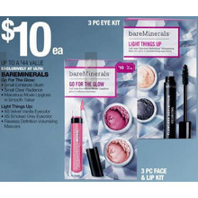 Bareminerals - 3pc Eye Kit or 3pm Face & Lip Kit