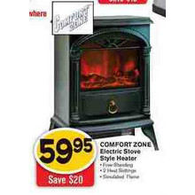 Comfort Zone Electric Stove Style Heater