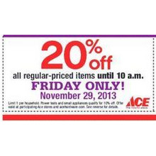 20% Off Regualr Priced Items Until 10 a.m.