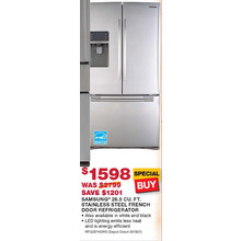 Samsung 28.5 cu. ft. Stainless Steel French Door Refrigerator (Starts 11/10)