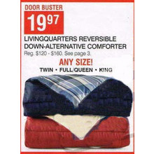 Livingquarters Reversible Down-Alternative Comforter - Twin, Full/Queen, King
