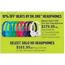 Select Solo HD Headphones (Assorted Colors)