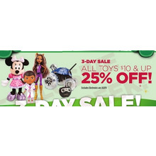 All Toys $10 & Up (25% Off)