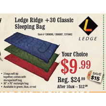 Ledge Ridge +30 Classic Sleeping Bag
