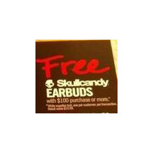 Free Skullcandy Earbuds w/ $100 purchase
