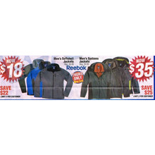 Reebok Mens Softshell Jackets