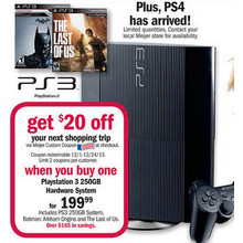 $20 Off Playstation 3 250GB Game Console, Batman Arkham Origins & The Last of Us Bundle Purchase