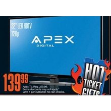 "Apex 32"" LED HDTV, 720p."