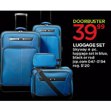 Skyway Lexington 4-pc. Luggage Set (Black)