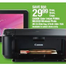 Canon Color Inkjet PIXMA MG3220 Wireless Photo All-in-One