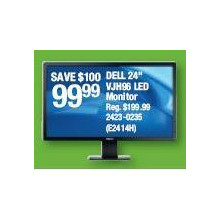 "Dell 24"" VJH96 LED Moniter"