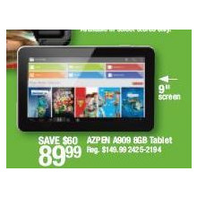 Azpen A909 8GB Tablet