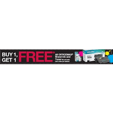 Officemax Branded Ink and Toner	-	BOGO Free
