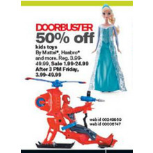 50% off Kids Toys - Mattel, Hasbro and more