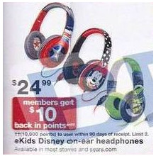 eKids Disney On-Ear Headphones (+$10 in Points)