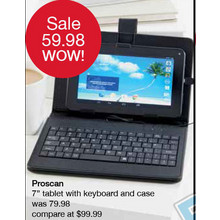 "Proscan 7"" Tablet W/ Keyboard and Case"
